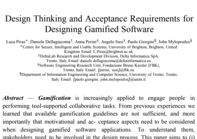 Design Thinking and Acceptance Requirements for Designing Gamified Software