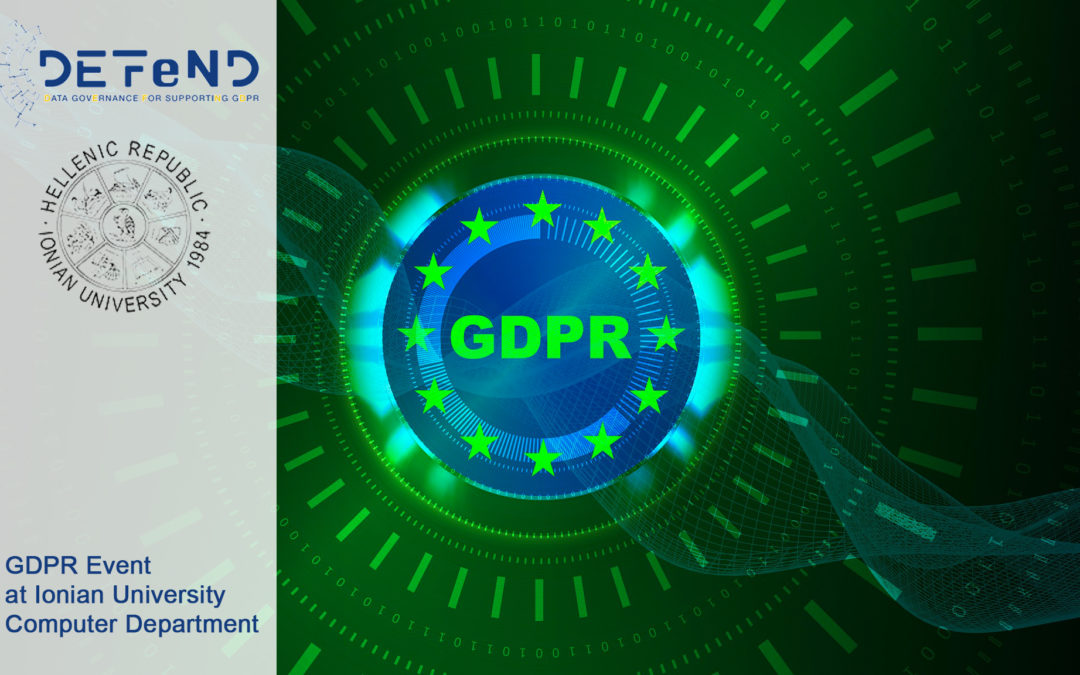 GDPR Event at Ionian University in Corfù