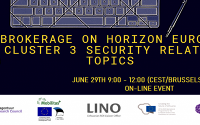 Horizon Europe Cluster 3 security related topics